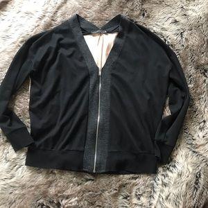 Zara color blocked zip front jacket!